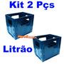 Kit 2 Caixa Engradado 1 Litro P/ 12 Litrão De Cerveja Ambev