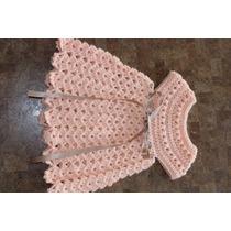 Vestido En Crochet Fino Tipo Español Bebe Niña