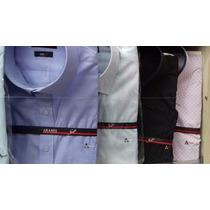 Kit Com 5 Camisas Social Aramis Lisa Masculina Várias Cores