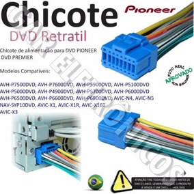 Chicote Dvd Pioneer Linha Azul Avhp5700 Avh P 5700 5750 5780