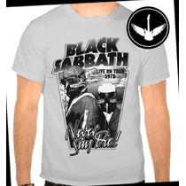 Camiseta Ou Baby Look Black Sabbath Never Say Die