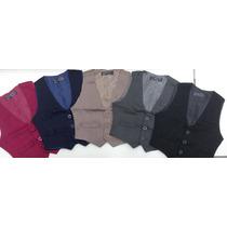 Chaleco De Vestir Slim Fit Par Niños T2 Al 12 Varios Colores