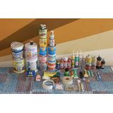 Combo De Materiales Y Herramientas De Pintura