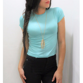 Crop Top Cuello Redondo