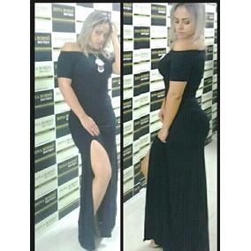 Vestido Feminino Fenda Longo Em Viscolycra Roupas Femininas