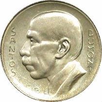 Moeda Antiga De Prata 5000 Reis 1937, Santos Dumont, Soberba