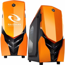 Gabinete Pc Gamer Raidmax Ninja Ii Orange Sop. Water Cooler