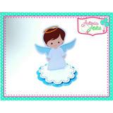10 Aplique Latinha Lembrancinha Personalizado Anjo Batizado
