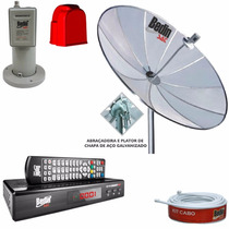 Antena Parabólica 1,90 Mts Tela + Lnbf Mono + Receptor Hd