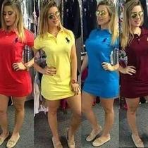 Vestido Gola Polo Feminino Super Oferta. P/m/g/gg