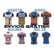 Playeras Camisetas Dragon Ball Dbz Vegeta Goku Ssj Torso