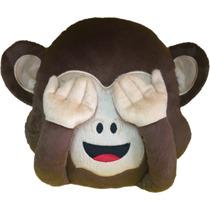 Almofada Emoji Macaco Whatsapp (macaquinho Cego)