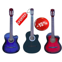 Guitarra Criolla C/ Corte Calidad Superior + Funda Y Puas