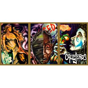Callejeros Tríptico Cuadros Musica Rock (36cm X 76cm)