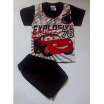 Conjunto Infantil Menino Verão Tam 01 Camiseta+shorts Barato