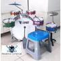 Bateria Musical Infantil Banco Tambor Baquetas - Ed Especial