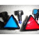 Boton Triangular Luminoso Con Led Arcades Maquinas Fonolas