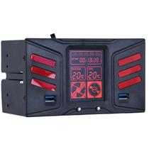 Controlador Fan Cooler Led 2 Usb 3.0 2 Baias Temperatura Pc