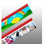 100 Reglas Personalizadas 20x5 Full Color Ilust. 300gr