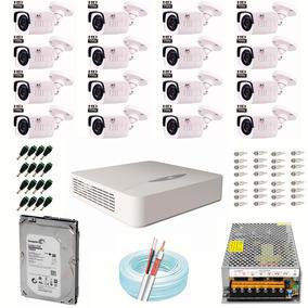 Kit Monitoramento Cftv 16 Câmera Cd-3230+ Jfl 1 Megapixel Hd