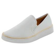 Tênis Sapatênis Branco Sapato Feminino Fechado Enfermagem