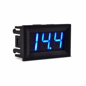 Voltímetro Digital Com Remote Bateria Som Automotivo Azul