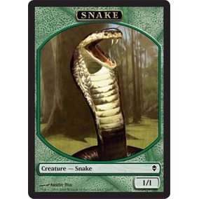 X4 Ficha De Cobra / Token Snake - Magic The Gathering