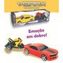 10un Carro Vorax Com Super Moto Bike A:15xl:54xp:15cm