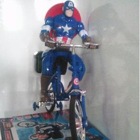 Capitão América Boneco Que Anda De Bicicleta Brinquedo,