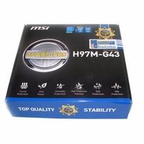 Tarjeta Madre Msi H97m-g43 Lga 1150 Para Gaming O Diseño