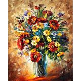 Magic Flowers - Pintura Al Óleo Del Maestro Leonid Afremov
