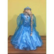 Vestido, Disfraz Paquete Princesas Rapunzel, Valiente, Elsa