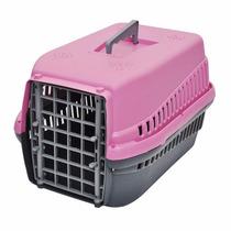 Caixa De Transporte Mec Rosa N° 1 Para Cães E Gatos