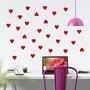 Adesivo Decorativo Parede Coração Vermelho Love Amor Vinil