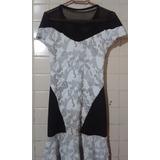 Lindo Vestido De Grife Branco E Preto Tamanhos P E M