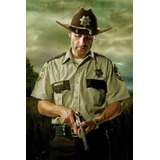 Distintivo The Walking Dead Rick Sheriff Metal Cosplay