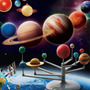 Planetário Conjunto Sistema Solar Brinquedo Kit Educativo