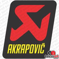 Adesivo Akrapovic Escapamentos Moto Carenagem Esportiva Race