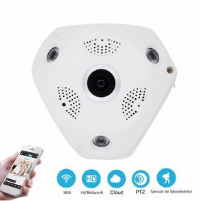 Câmera Ip Hd Panorâmica 360º Wi-fi 3g Olho De Peixe Noturna