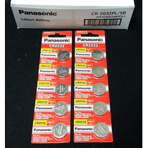 Bateria Lithium 3v Panasonic Cr2032 Original 10 Unidades
