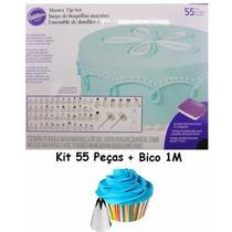 Kit Bicos De Confeitar Wilton 55 Peças + Bico 1m Grátis