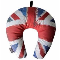 Almofada Travesseiro De Pescoço Reino Unido Logo Artesania