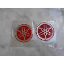 Promoção! Par De Diapasão Emblema Yamaha 50 Mm Cor Vermelha