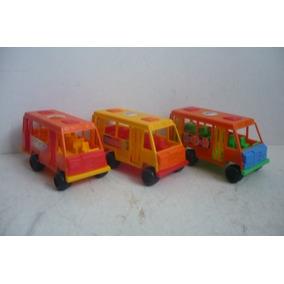 Microbus Autobus Lote De 3 - Camioncito Juguete Escala
