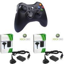 Kit Controle P Xbox Sem Fio+2 Carregadores+2 Baterias Pc