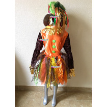 Disfraz De Lujo Niña Pajarera Espanta Pájaros Envío Gratis