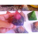 Lote Com 6 Orgonites Pirâmides - Medidas 6 Cm - Cristal