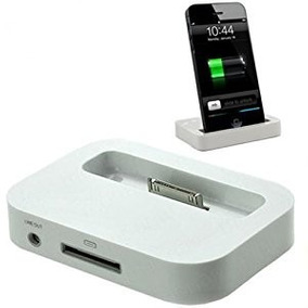 Base Cargador Dock Iphone 3g 3gs Salida Audio 3,5 Nuevos