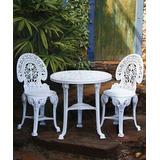 Conjunto Mesa Redonda E 2 Cadeira Colonial Plastico 01 Jogo