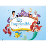 La Sirenita Kit Imprimibles Cumpleaños Personalizados